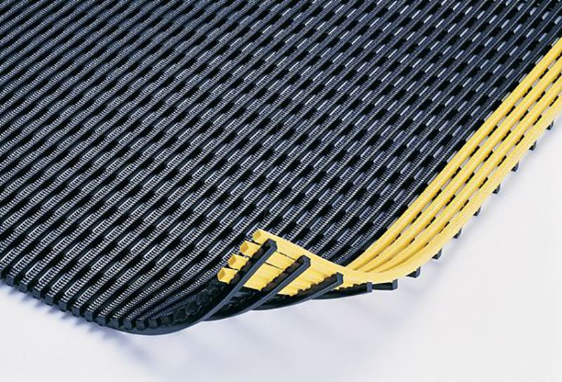 Image of non-skid drainage mats for the fire industry.